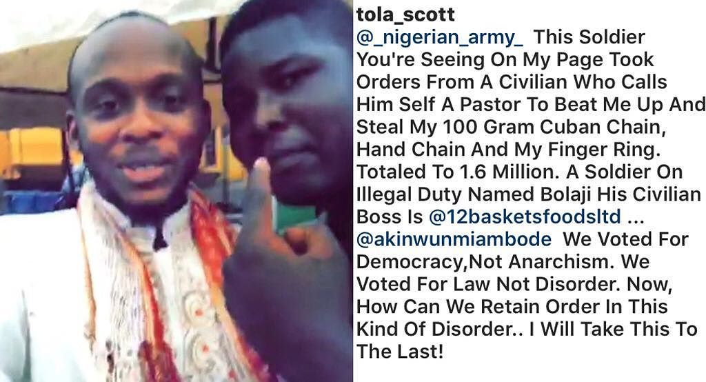 Nigerian pastor allegedly orders soldier to beat up man