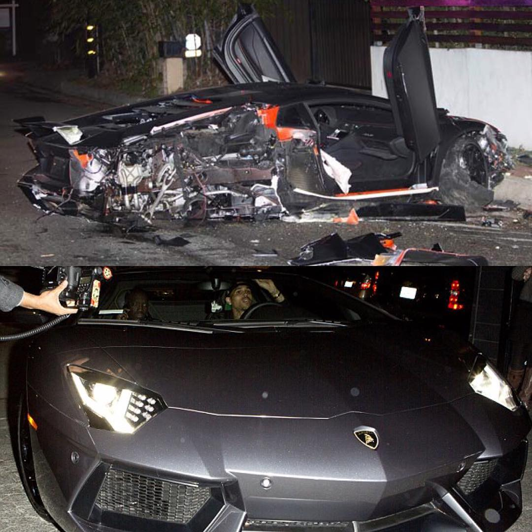 Chris Brown bans his friends from driving his cars after one crashed his $500k Lamborghini