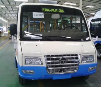 The Lagos government unveils buses that will replace yellow 'danfo'