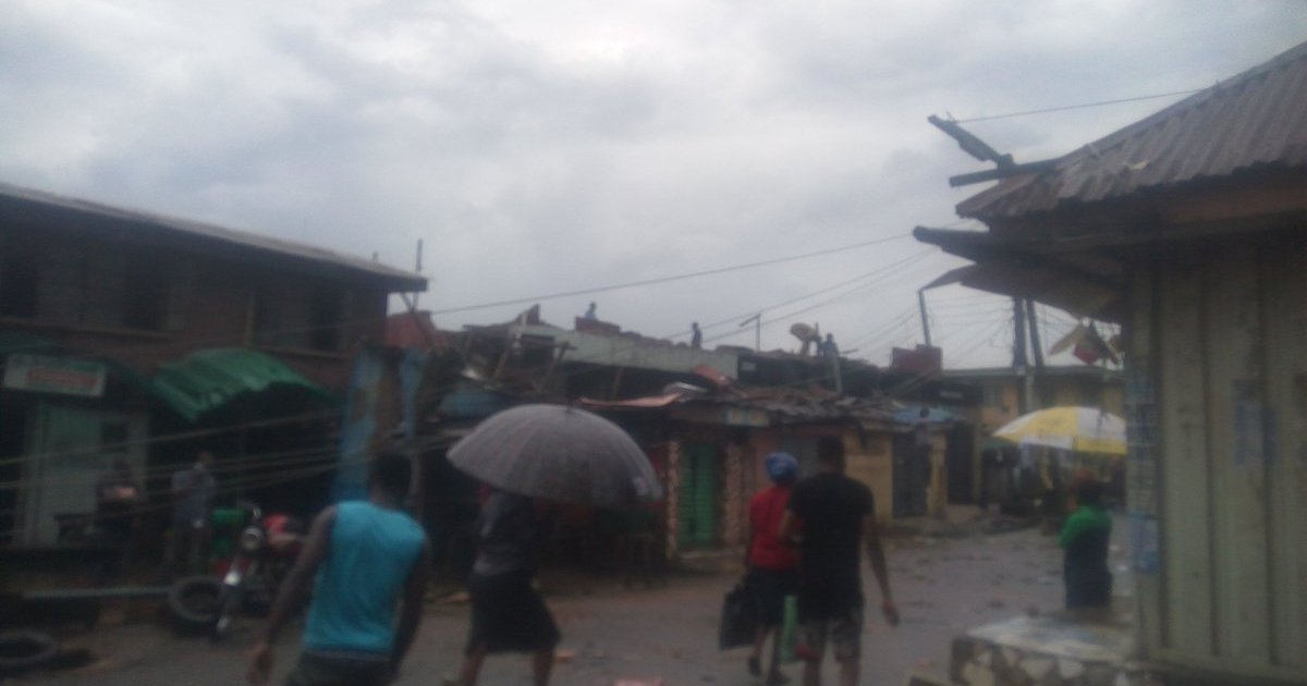 IN KETU: Blackout Imminent As Storm Destroys Electricity Poles, Houses