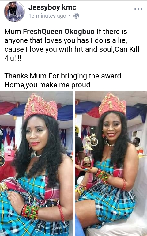 JeesyBoy Speaks about the Mum FreshQueen Okogbuo