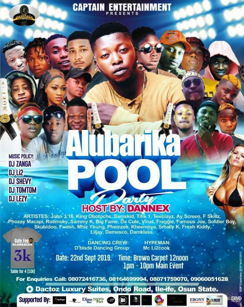 Captain Entertainment present Alubarika Pool Party Hosted by Dannex