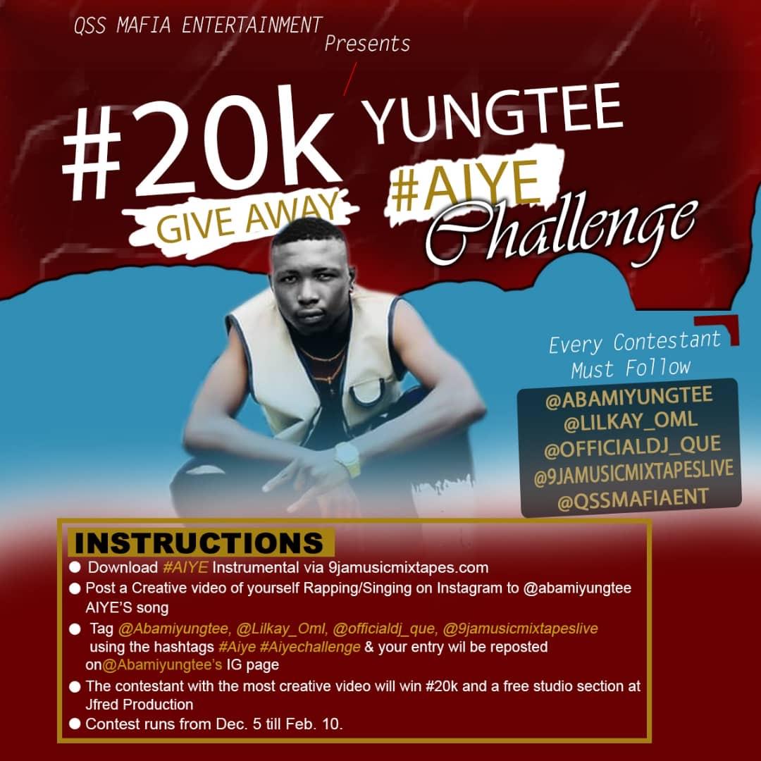 Give Away Time :Aiye Instrumental/Hooked – YungTee #AIYECHALLENGE