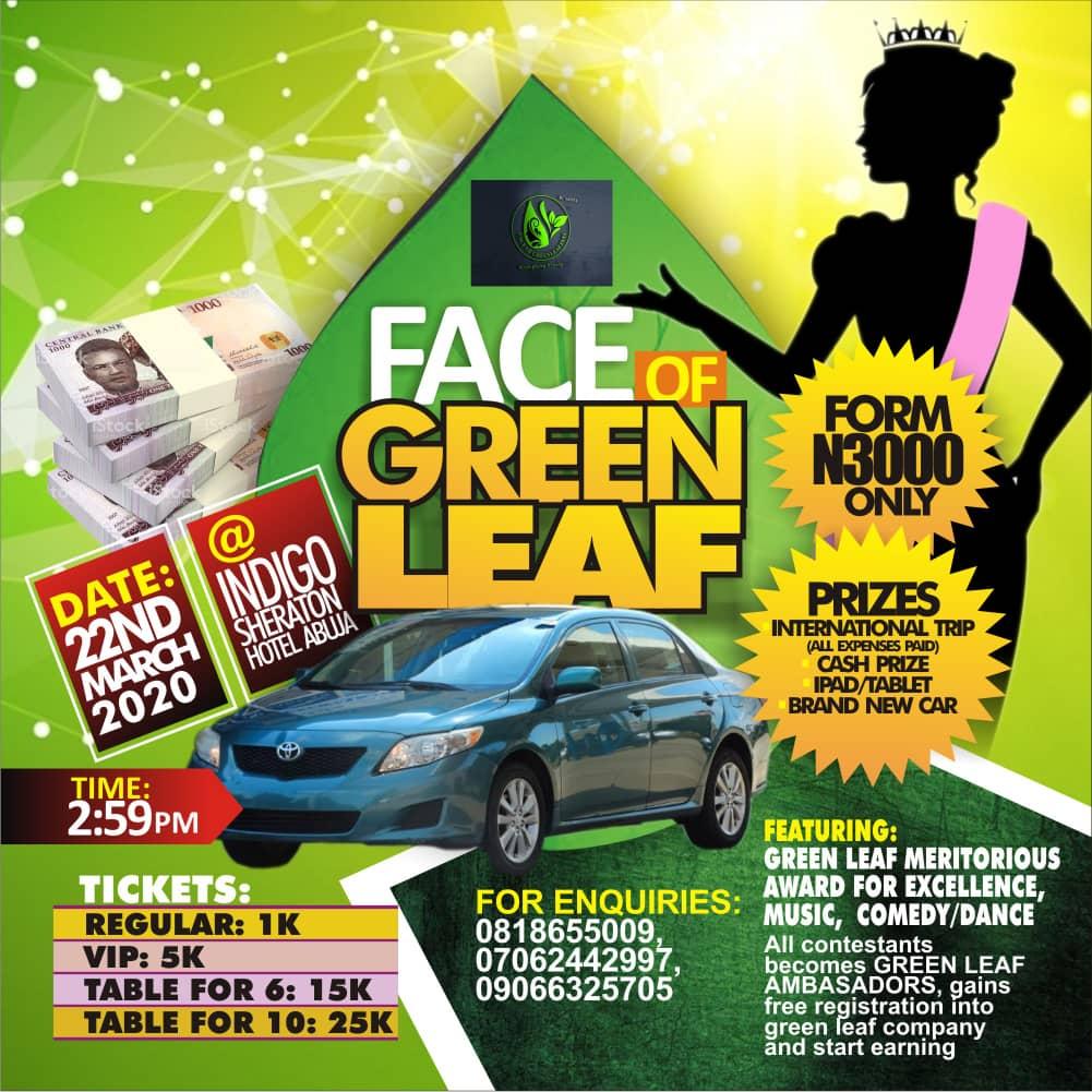 Register For Face Of Greenleaf International