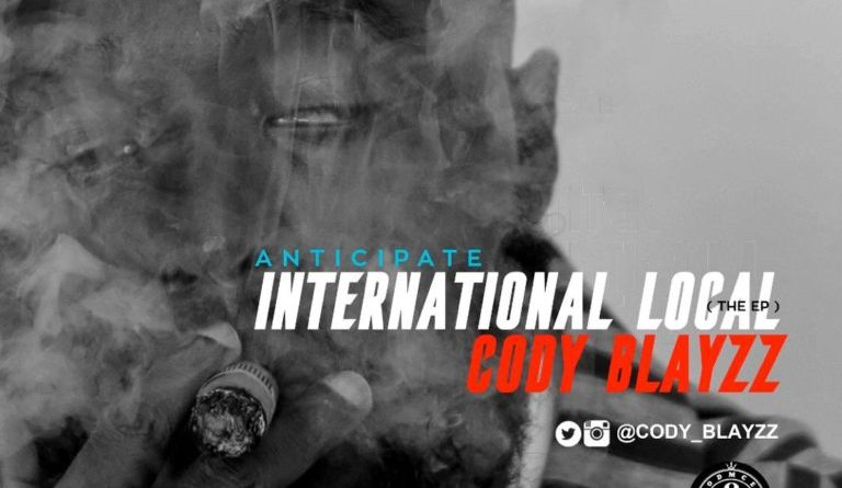 "Cody Blayzz unveils artwork for upcoming EP ""International Local"""
