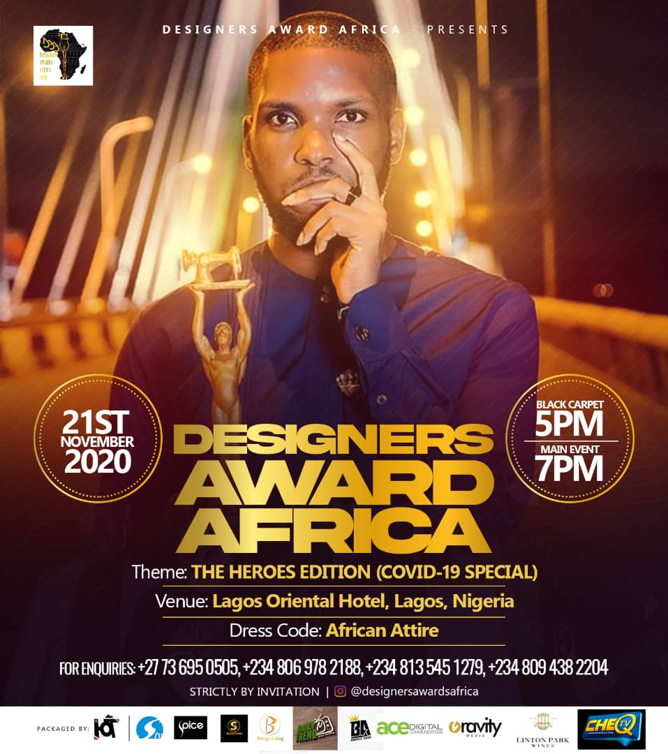 Designer Awards Africa Set To Hold Her Official Annual Award By November 2020
